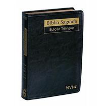 Biblia Sagrada Nvi Trilíngue (esp-ing-port) Luxo Média