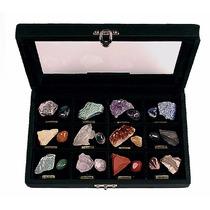 Estojo C/ Coleção De Pedras Semipreciosas Brasileiras Grande
