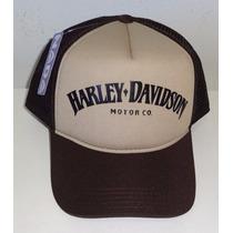 Boné Harley Davidson Trucker Cap Tela Vintage