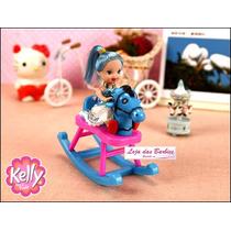 Cavalinho De Balanço Com Boneca * Estilo Kelly ( Barbie )