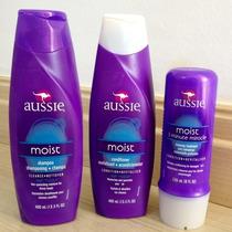 Kit Aussie Moist Shampoo + Condicionador + 3 Minute Miracle!
