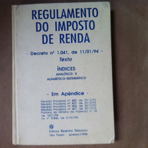 Regulamento Imposto De Renda 1994