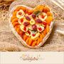 Cesta De Frutas Secas Decoradas - Coração 300gr - Namorados