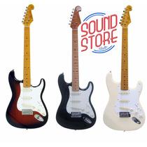 Guitarra Strato Sx Sst57 + Vintage Escala Maple + Bag Top