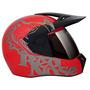 Capacete Moto Bieffe 3 Sport Red Nose Vermelho Bieffe Novo