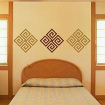 Adesivo Decorativo De Parede Arabesco Abstrato Quadrado