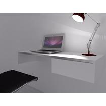 Escrivaninha Mesa P/escritorio Suspensa 1 Gaveta Mdf Branco