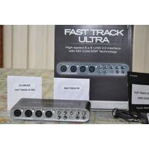 Placa Interface M Audio Fast Track Ultra 8x8 Usb Nova
