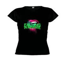Camisetas Baby Look Banda Falling In Reverse -feminino