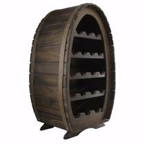 Adega Colonial Rústica Para 21 Garrafas - Vinho - Barril