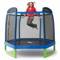 Cama Elastica Pula Pula Trampolim Infantil 2,13 M Rede Prote