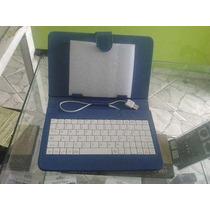 Capa Case Tablet 7/com Teclado Usb Em Português