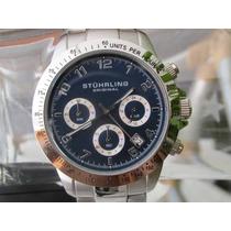 Relógio Stuhrling 665b Original Azul Com Cronometro