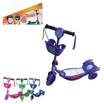 Patinete 3 Rodas Triciclo Scooter Infantil Som E Luzes