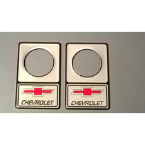 Protetor De Fechadura 34mm Chevrolet Vermelho / Prata
