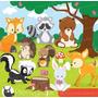 Kit Scrapbook Digital Animais Da Selva Imagens Clipart Cod 6