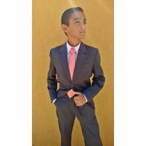 Terno Chumbo Infantil Microfibra 2 Ao 16 Social Slim