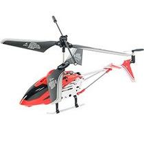 Mini Helicóptero 3,5 Canais Com Controle Remoto Vermelho