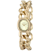 Relógio Feminino Corrente Fossil Es3460 Dourado 22mm Origina