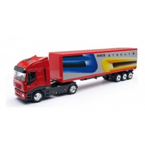 Miniatura Caminhão Iveco Stralis Conteiner 1:43 New Ray
