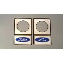 Protetor De Fechadura 34mm Ford Azul / Prata