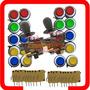 Kit 2 Comandos + 20 Botões Com Micro Para Fliperama Arcade