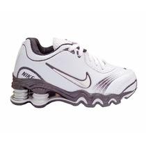 Tênis Nike Shox Turbo Branco E Preto Para Criança
