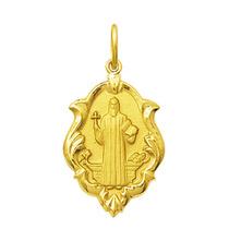 Medalha Pingente São Bento Em Pé Ouro 18k 1cm Certificado