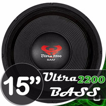 Alto Falante Woofer Ultravox Ultra Bass 15 2200w Rms 4-8ohms