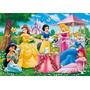 Painel Infantil Decorativo Lona Princesas 2,40 M X 1,30 M