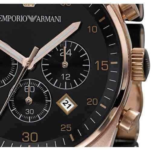 58bdf89ffda Relógio Emporio Armani Ar5905 Masculino Original Preto Rose. Preço  R  207  99 Veja MercadoLibre