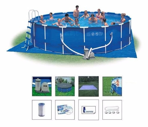 Piscina intex 47241 litros bomba filtro capa escada 28261 for Filtro piscina intex