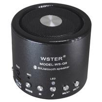 Mini Caixa De Som Bluetooth Speaker Sd Radio P2 Aux Bateria