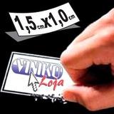 500 Lacres Etiqueta Casca De Ovo 1,0x1,5 Adesivo Destrutível