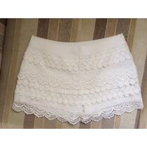 Shorts-saia Renda Branca- Calzedonia