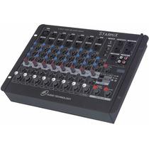 Mesa De Som 8 Canais Ll Starmix Us802rd Com Usb E Display