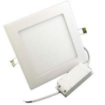 Kit 4 Painel Led 12w Luminaria Quadrado Embutir Teto Parede