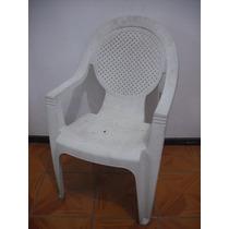 Cadeira Plastico Pvc Branca 4 Peças Por R$ 66,00