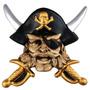 Pirata Do Caribe - Espadas Cruzadas - Corsário - Quadro