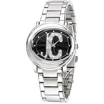 Relógio Feminino Just Cavalli Italiano Prata Preto Luxo Mk