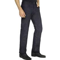 Calça Jeans Masculina Preta Com Lycra 36 Ao 48