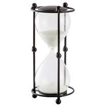 Ampulheta De Metal Luxo Decorativa - 5 Minutos