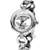 Relógio Feminino Just Cavalli Italiano Prata Cristal Luxo Mk