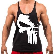 Camiseta Regata Super Cavada P/ Musculação Treino Justiceiro