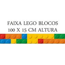 Faixa Border Quarto Infantil Lego Blocos