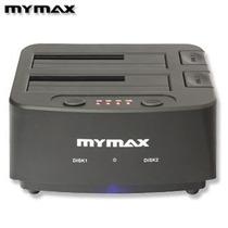 Dock Station Mymax P/ 2 Hd Sata 2.5 E 3.5 Com Botão Clone