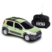 Carrinho Novo Fiat Uno 1:18 Controle Remoto Cks