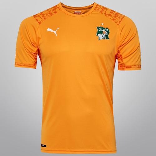 Camisa Costa Marfim Puma Oficial Copa 2014 3220a1c760e67