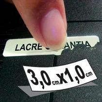 500 Lacre Casca Ovo 3,0x1,0 Garantia Segurança Destrutível