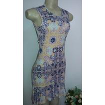Vestido Curto Vestidinho Floral Estampado Viscolicra Pedrari